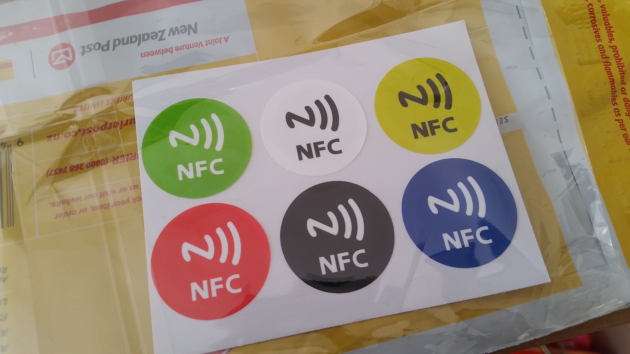 NFC stickers - easier than building a button